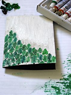 painted trees (inspiration only, not a direct link) Source: rainydayandapotoftea