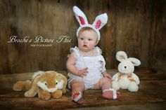 First Easter Pictures!! Baby!! Tenley.