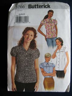 Butterick Misses Loose Fitting Blouse Shirt Pattern by Vntgfindz, $6.00