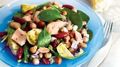 Salade de légumineuses, de thon et d'artichauts