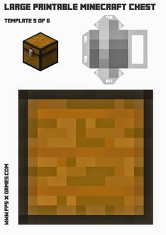 Print and create your own Minecraft chest, template 5 of 6