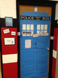 Doctor Who Tardis classroom door decoration!