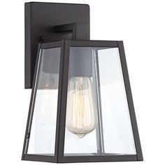 """Arrington 10 1/2"""" High Mystic Black Outdoor Wall Light.  For next to both exterior doors as well as to replace sconces in stairwells."""