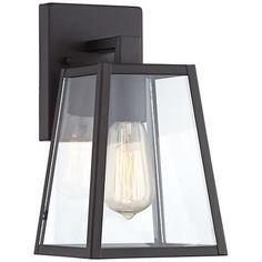 "Arrington 10 1/2"" High Mystic Black Outdoor Wall Light"