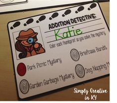 Simply Creative in Kentucky: Addition Detectives