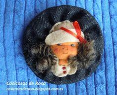 Las Cosicosas de Rosa: un broche de fieltro en forma de carina de muñeca. ¡Espero que os guste! #cosicosas #fieltro #broche