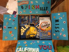 Made this cute care package for two school age boys who live in Hawaii and I live in California