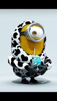 Cow Minion / this is like my MacKenzie with her costume of the cow.