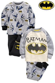 Buy Two Pack Batman Snuggle Pyjamas White Top (9mths-8yrs) from the Next UK online shop