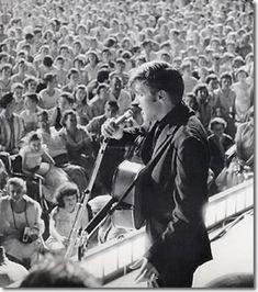 Elvis Presley : Russwood Park, Memphis, Tennessee : July 4, 1956