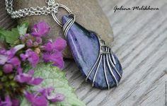 Pendants handmade. Pendant of nickel silver and charoite. Galina Melikhova… - http://amzn.to/2goDS3g