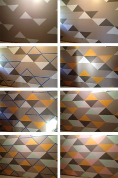 triangle wall how to