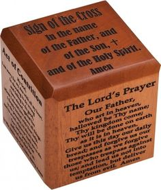 Prayer cube. I like the thought. Adapt to Lutheran prayers for Anderson's Faith Chest.