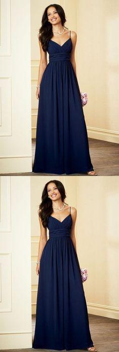 7b649aa9f43 Simple Light Navy Blue Prom Dress,Spaghetti Straps Evening Dress,Floor  Length Prom Dress