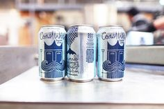 New Packaging for CoastWise Session IPA by MiresBall Coronado Brewing, Brewing Co, Ipa, Red Bull, Shot Glass, Packaging, Design Inspiration, Branding, Tableware