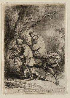 Mijn favoriete Rembrandt in Teylers Museum: Vlucht naar Egypte: klein (B52)