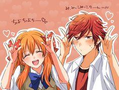 """""""Mikoshiba Mikoto"""" """"Sakura Chiyo"""" I don't know what they're doing but it's adorable."""