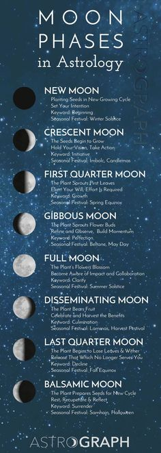 Follow along with the Moon Phases. Utilize the gift of astrology to flow with the natural rhythms of life. astrograph.com