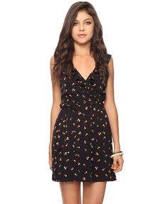F21: Dotted Surplice Dress, $27.80
