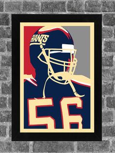 New York Giants Lawrence Taylor Portrait Sports by KCPrinting, $14.99
