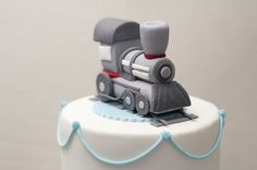 Train cake topper, via Flickr.