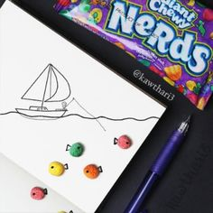 Stop motion animation vid ' Fishing for giant Nerd fish ' Stop motion animation by : ( @kawthari3 ) #creative_artvideos  #art #artofinstagram #instaart #instaartist #vid #artvideo #video #watch #creative #artsy #artistic #artworld #imagination #stopmotion #animation #nerds #candy #edit #artist