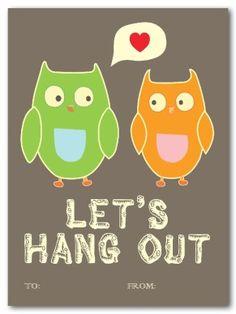 Owl Valentine Card  Pinned by www.myowlbarn.com