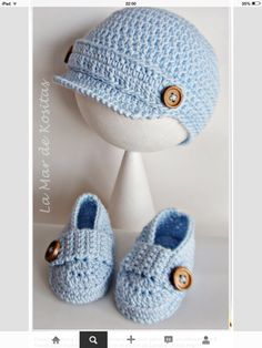 Crochet Child Hats Child crochet hat and booties black grey and by CreArtTextiles Crochet Baby Hats