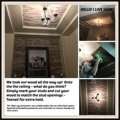 Checkout how we teamed with Restyle Junkie, who creates beautiful artisan textured wood, to build a barnwood inspired distressed wood wall. Repurposed Wood, Reclaimed Barn Wood, Diy Interior, Interior Decorating, Distressed Wood Wall, How To Distress Wood, Beautiful Interiors, Wood Pallets, Home Improvement