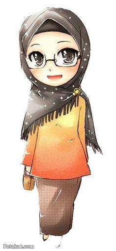 Hijab Drawing♥ Hijab Drawing Source : ♥ by Hijab Drawing, Islamic Cartoon, Hijab Cartoon, Girls Anime, People Illustration, Muslim Girls, Cute Chibi, Islamic Art, Cartoon Art