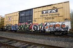 Rr Car, Graffiti, Train Art, Rolling Stock, Train Rides, Car Photos, Painting & Drawing, Street Art, Sticker