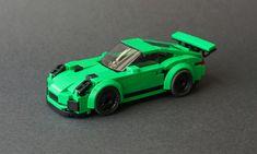 Custom model cars built with LEGO bricks Lego Structures, Lego Sports, Lego Racers, Big Lego, Lego Videos, Porsche 911 Gt3, Porsche 2018, Lego Ship, Lego Speed Champions