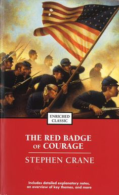 """Throughout history the color red has also been used to symbolize courage. In The Red Badge of Courage by Stephen Crane, a young war soldier flees from the battle and afterwards longs for a wound or """"red badge or courage"""" to make up for his cowardice."""