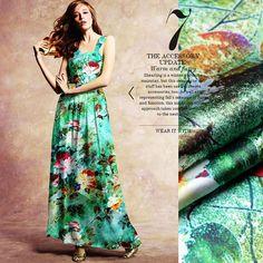 Seide Stoff durch das Yard Stoff Floral Print von AshleyFabric