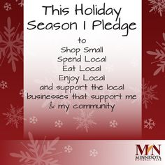 Remember to think local and shop small when do your holiday shopping. #ShopSmall #SmallBusiness