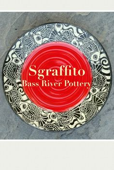 Sgraffito plate, fish Sgraffito, Bass, Decorative Plates, Clay, Pottery, River, Home Decor, Clays, Ceramica