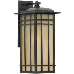 Quoizel Lighting Outdoor Wall Light with Amber Glass in Imperial Bronze Finish | HCE8409IB | Destination Lighting