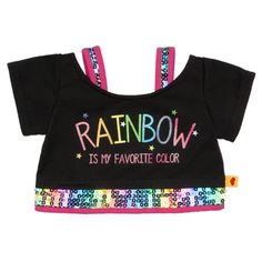 Rainbow Is My Favorite Color T-Shirt - Build-A-Bear Workshop US