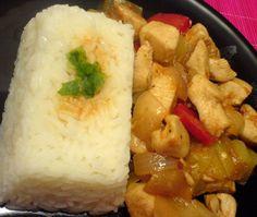 Κοτόπουλο με πιπεριές στο πιάτο 8 Grains, Rice, Chicken, Blog, Laughter, Jim Rice, Korn, Cubs, Brass