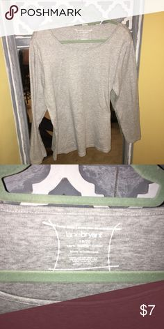 Ladies Lane Bryant gray top Ladies gray top Lane Bryant size 18/20 Lane Bryant Tops Tees - Long Sleeve