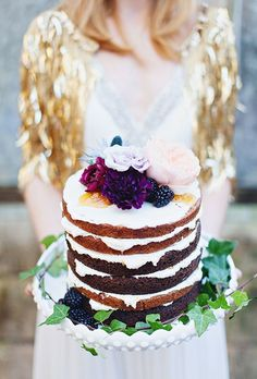 Unfrosted Wedding Cakes | Brides