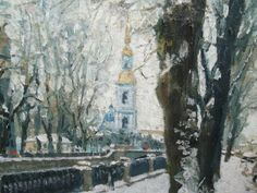 Russian IMPRESSIONIST Oil Painting- St Petersburg