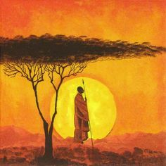 4 Single Table Party Paper Napkins for Decoupage Decopatch Craft African Sunset
