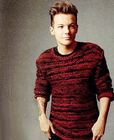 My cutie in a sweater that I would like to steal and wear. -H