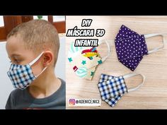 DIY MÁSCARA DE TECIDO 3D + MOLDE BEM FÁCIL MASKS KIDS - YouTube Face Masks For Kids, Easy Face Masks, Diy Face Mask, Sewing Patterns Free, Sewing Tutorials, Sewing Projects, Easy Sew Dress, Elsa Coloring Pages, Mascara 3d