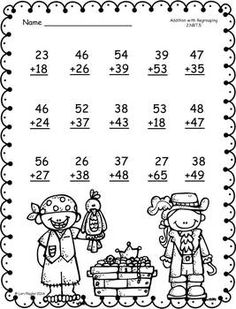 FREEBIE-Addition and Subtraction with Regrouping Printables by Lori Flaglor 3rd Grade Math Worksheets, Free Math Worksheets, Math Addition, Addition And Subtraction, Math Drills, Math Sheets, Math Books, Second Grade Math, Homeschool Math