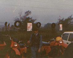 Valsecchi con la moto Laverda