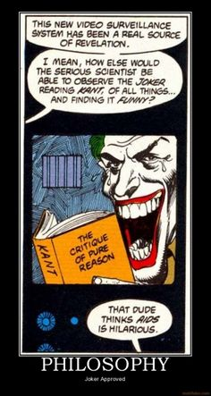 Joker reads Kant