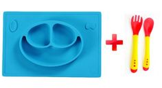 MadisonRose Silicone Placemat And Plate For Babies, Toddlers and Kids, Easy to…