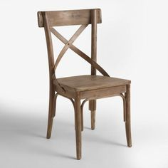 Graywash French Bistro Dining Chairs Set of 2 - Need to sit in first before deciding... maybe the warmer color is better? Must see in person